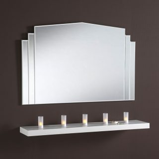 Gresham Overmantle Art Deco Mirror
