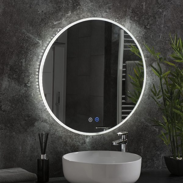 Alaska round illuminated mirror