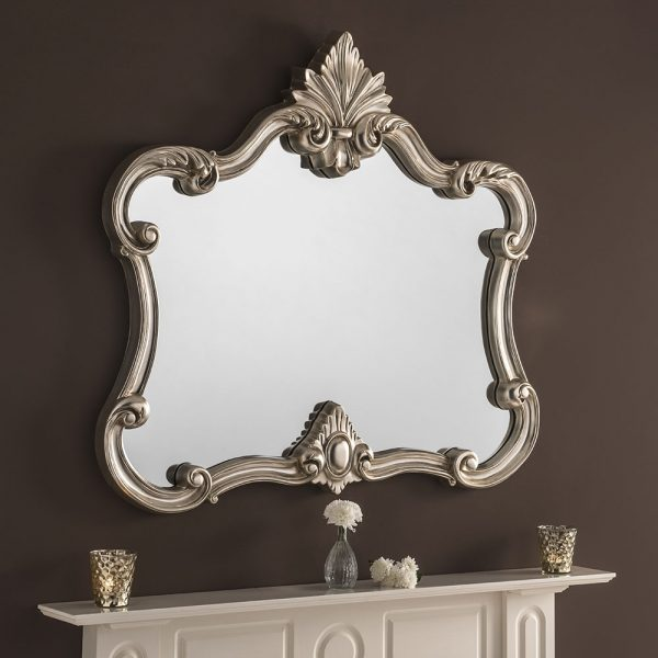 Large Mantel Ornate Mirror