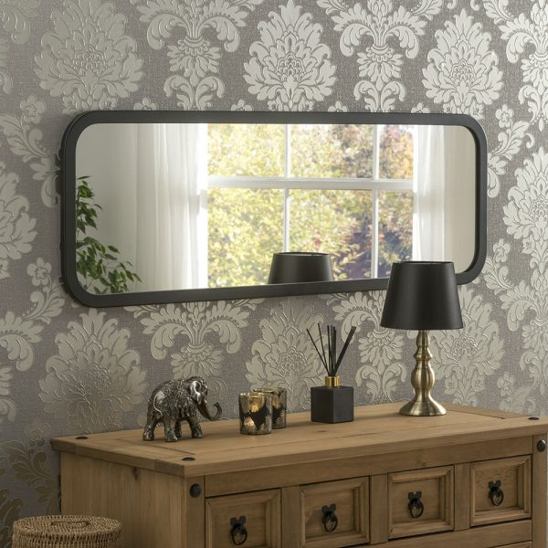 Curved corner wall mirror