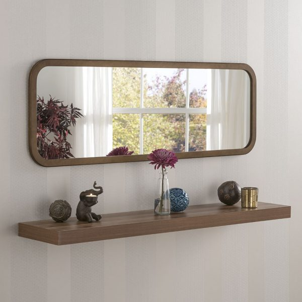 Minimal Curved corner wall mirror