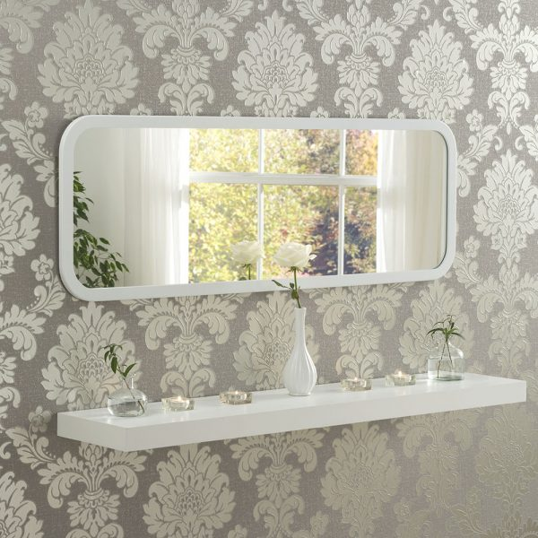 Corner wall mirror