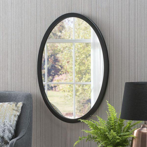 Lucia Minimal Oval Mirror
