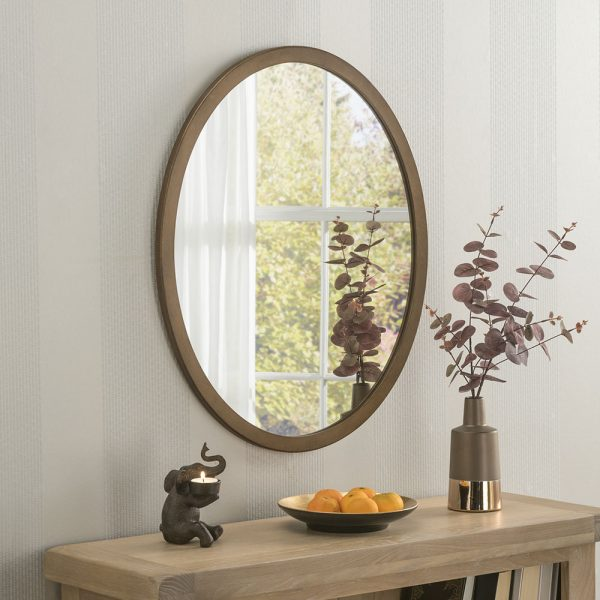 Minimal Oval wall mirror