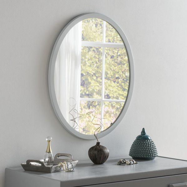 Lucia Minimal Oval Slim Mirror