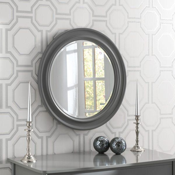 Denver Round Contemporary mirror