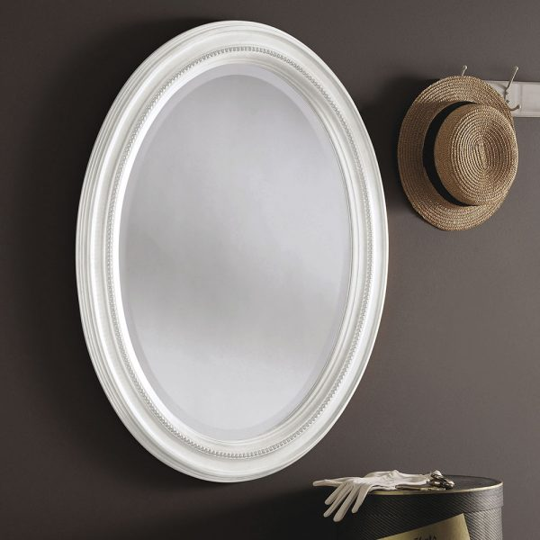 Traditional Beaded oval mirror