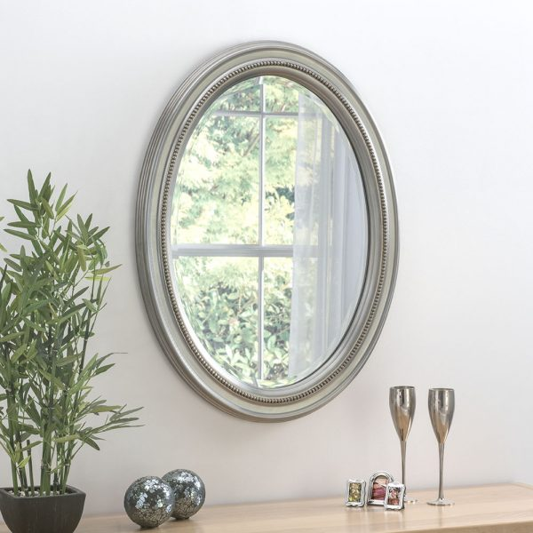 Alessia Beaded Oval Mirror