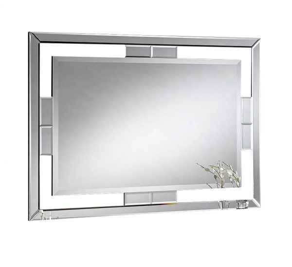 Lorenza Contemporary bevelled mirror