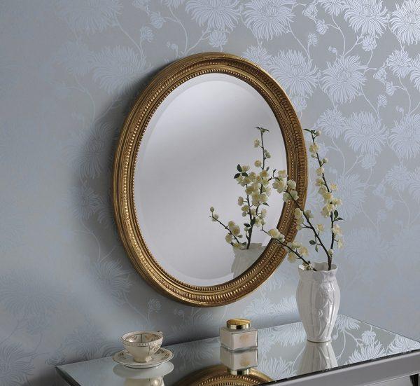 Abelia Classic Oval Mirror
