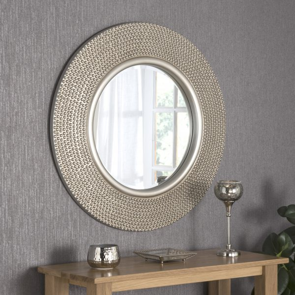 Candasa Large Round Studded Mirror
