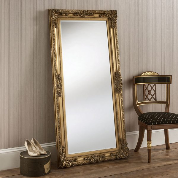 Traditional baroque Full length mirror