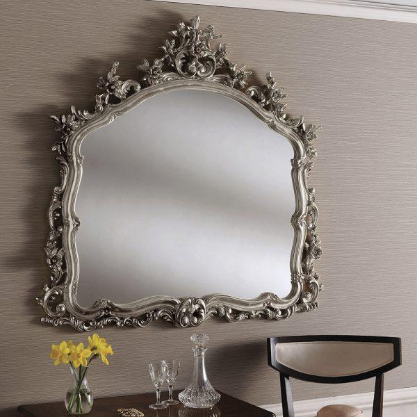 Indigo Overmantle Mirror