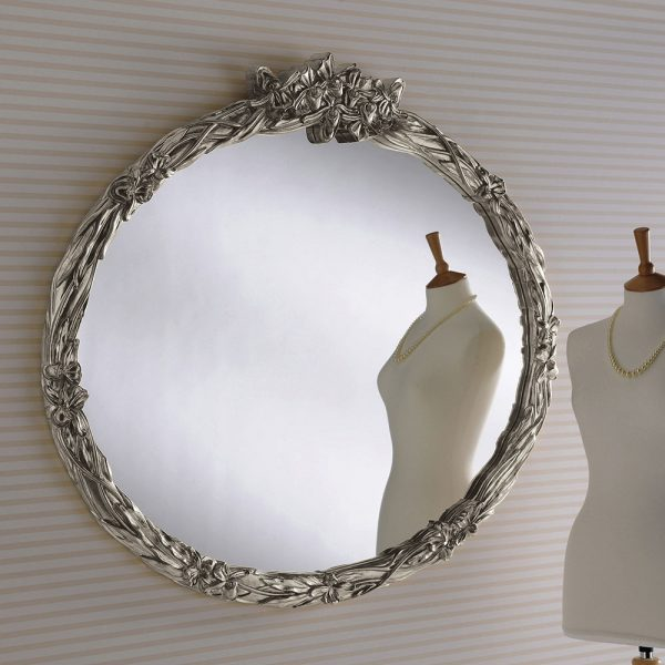 Macey Round Ornate Mirror