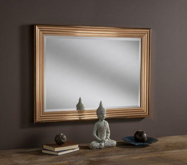 Nevaeh Copper Rectangular Mirror
