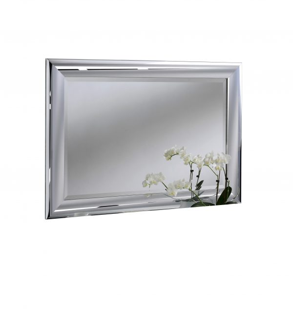 Waverly Chrome framed wall mirror