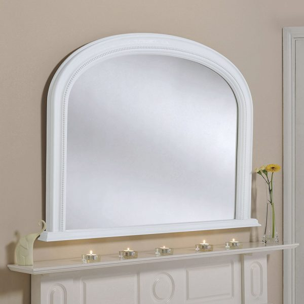 Classic beaded mantel mirror