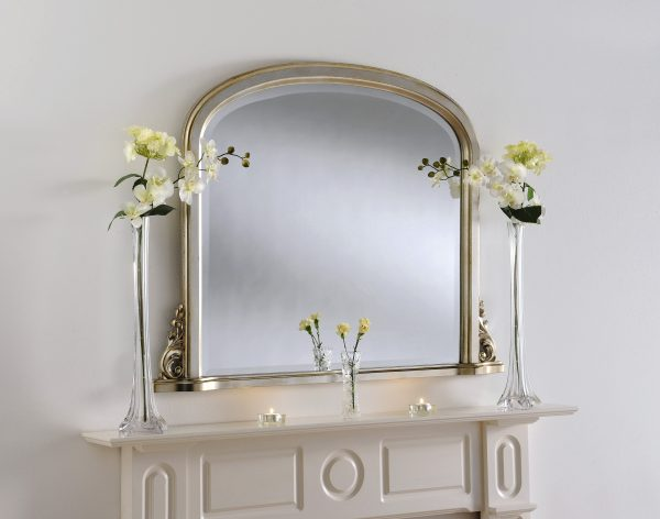 Traditional mantel mirror